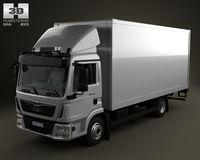 MAN TGL Box Truck 2-axis 2012 3D Model