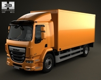 DAF LF Box Truck 2-axis 2013 3D Model