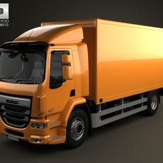 DAF LF Box Truck 2-axis 2013 3D Model