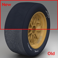 18 inches front tyre 3D Model