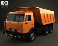 Kamaz Dump Truck 1977 3D Model