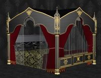 Gothic Canopy Bed 3D Model