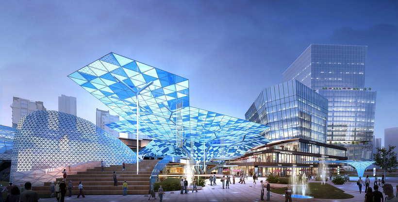 City shopping mall 028 3D Model