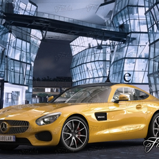 Mercedes AMG GT std mat 3D Model