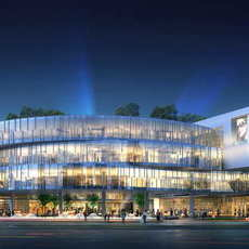 City shopping mall 033 3D Model