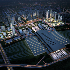 Railway terminal 004 3D Model