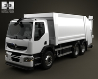 Renault Premium Distribution Hybrys Garbage Truck 2011 3D Model