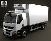 Renault Premium Distribution Refrigerator Truck 2011 3D Model