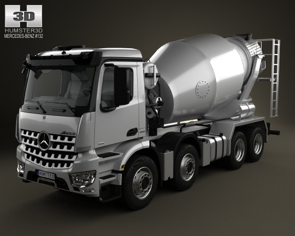 Mercedes-Benz Arocs Mixer Truck 2013 3D Model