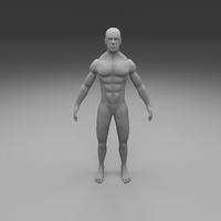 Muscular Human Male Clay Model 3D Model