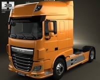 DAF XF Tractor Truck 2013 3D Model