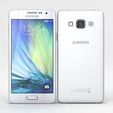 Samsung Galaxy A3 and A3 Duos White 3D Model