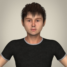 Realistic Young Teen Boy 3D Model