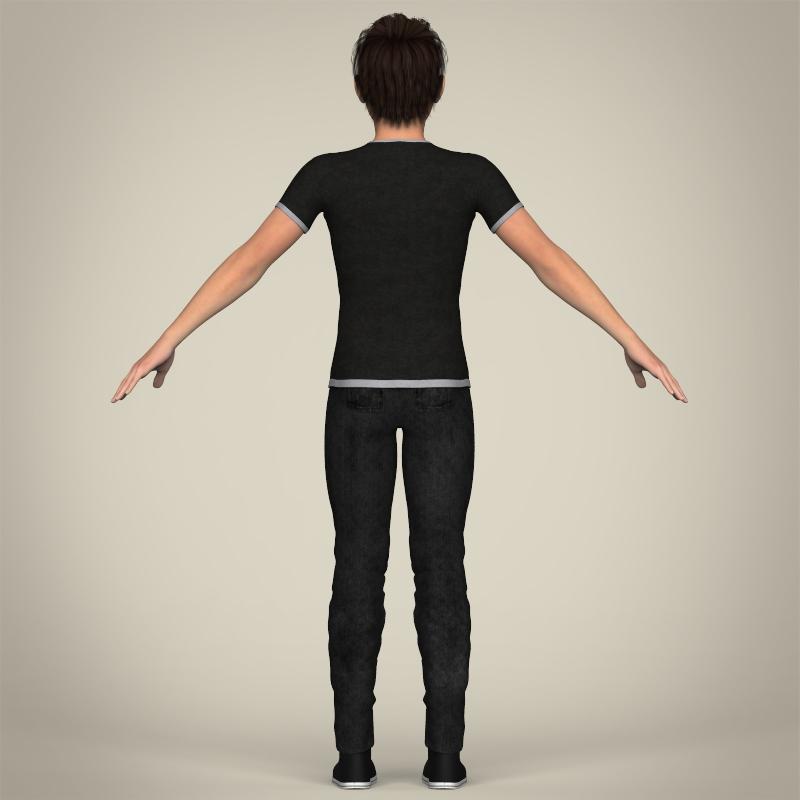 Realistic Young Teen Boy 3D Model in Man 3DExport