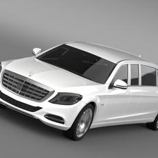 Mercedes Maybach Pullman 2016 3D Model