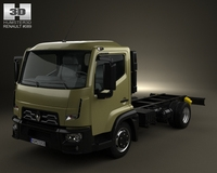 Renault D 7.5 Chassis Truck 2013 3D Model