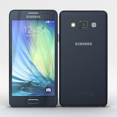 Samsung Galaxy A3 and A3 Duos Black 3D Model