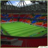Soccer Stadium CG 3D Model