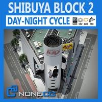 Tokyo Shibuya Block 2 3D Model
