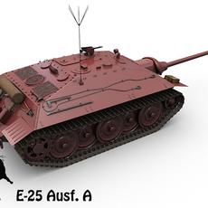 E-25 Ausf. A 3D Model
