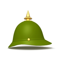 German spiked prussian helmet 3D Model
