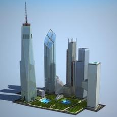 New World Trade Center Complex 3D Model