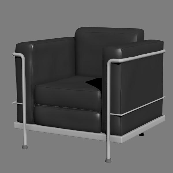 Le corbusier chair 3d model for Le corbusier chair history