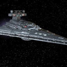 StarWars Star Destroyer with lights 3D Model