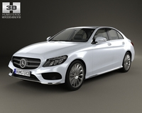 Mercedes-Benz C-Class AMG (W205) sedan 2014 3D Model