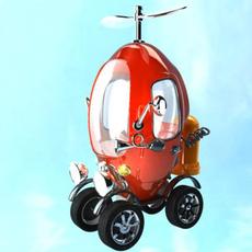 Propeller Car 3D Model