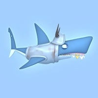 Shark cartoon 01 3D Model