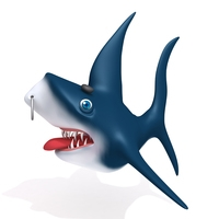 Shark cartoon 02 3D Model