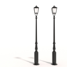 Cast iron street lamps 3D Model