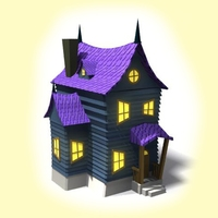 Spooky cartoon house 3D Model