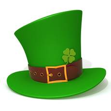 St Patricks Day Hat 3D Model