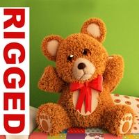 Teddy Bear cartoon rigged 3D Model