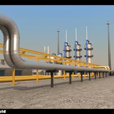 Gas Field 3D Model
