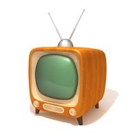 TV retro television 3D Model