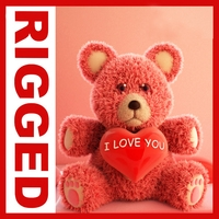 Valentine Teddy Bear 3D Model