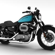 Harley-Davidson XL1200 Sportster Nightster 2012 3D Model