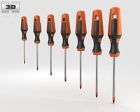 Screwdriver Set 3D Model