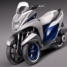 Yamaha Tricity 2015 scooter 3D Model