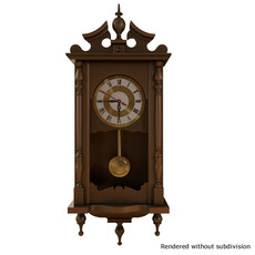 Wooden WallClock 3D Model