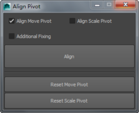 Align Pivot 1.0.5 for Maya (maya script)