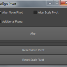 Align Pivot for Maya 1.0.5 (maya script)