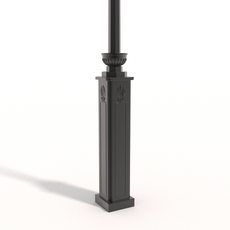 Cast iron street lamp B 3D Model