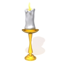 Candle light holder 3D Model