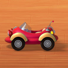 Car cartoon 02 3D Model