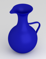 Free Blue Water Pitcher 3D Model