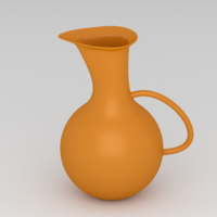 Free Orange Water Pitcher 3D Model